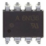 6N136 SMD High Speed Optocouplers High Speed 1MBd Transistor Output