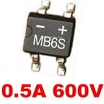 Cầu diode MB6S Bridge Rectifiers 0.5A 600V
