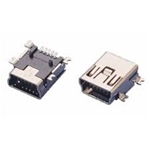 SMD female mini USB