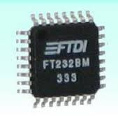 FT232BM USB-to-serial interface chip / USB to COM / USB to RS232